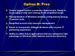 option b pros34