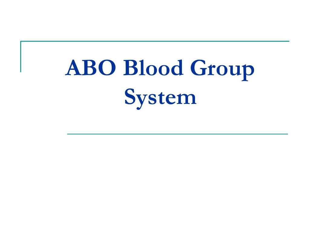 abo blood group system l.
