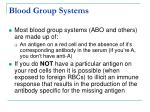 blood group systems