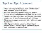 type i and type ii precursors