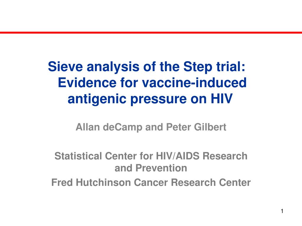 sieve analysis of the step trial evidence for vaccine induced antigenic pressure on hiv l.
