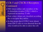 ccr 5 and cxcr 4 receptors continued
