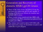 generation and recovery of chimeric hxb2 gp120 viruses