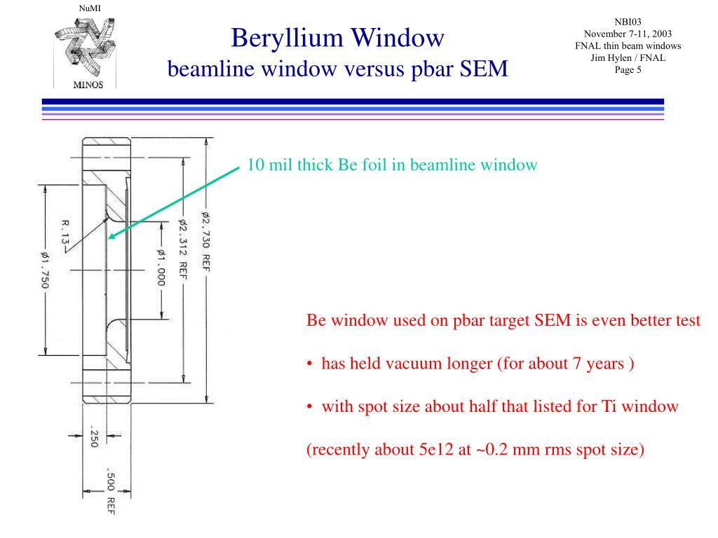 Beryllium Window