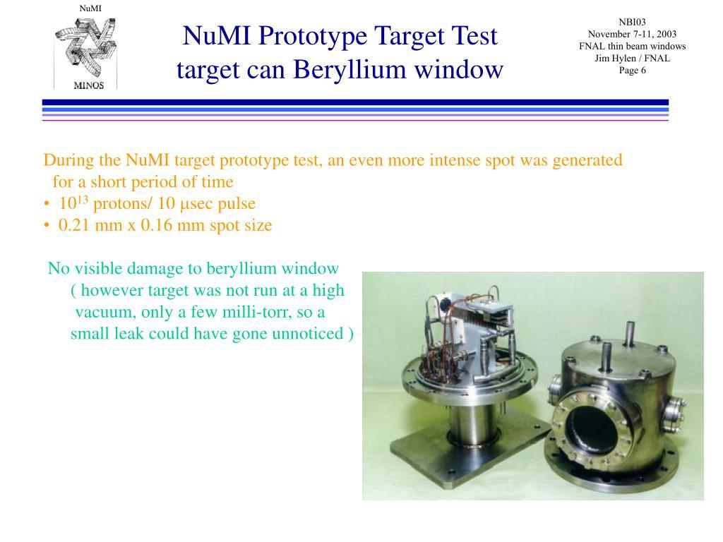 NuMI Prototype Target Test