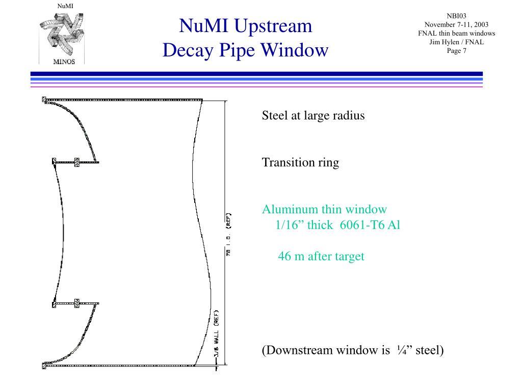 NuMI Upstream