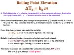 boiling point elevation d t b k b m