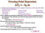 freezing point depression d t f k f m