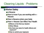 cleaning liquids problems24