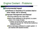 engine coolant problems