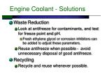 engine coolant solutions