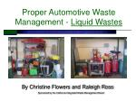 proper automotive waste management liquid wastes
