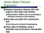 waste water pollution prevention
