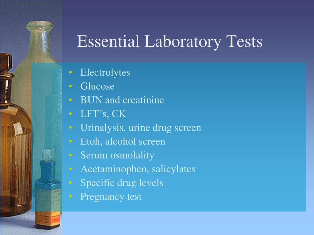 Essential Laboratory Tests