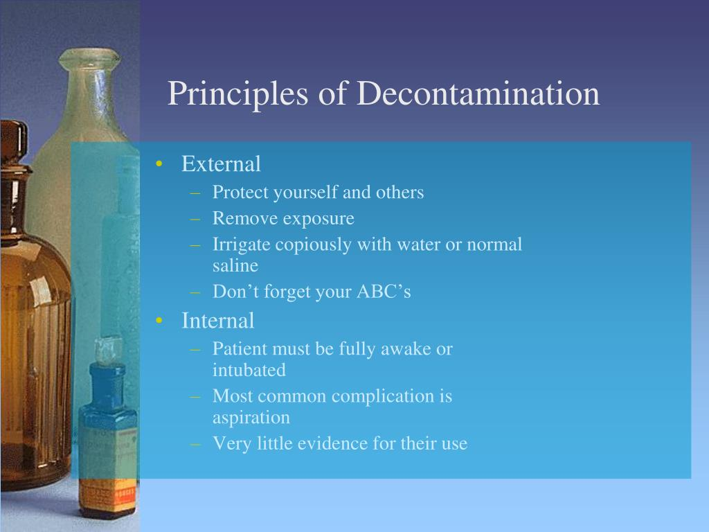 Principles of Decontamination
