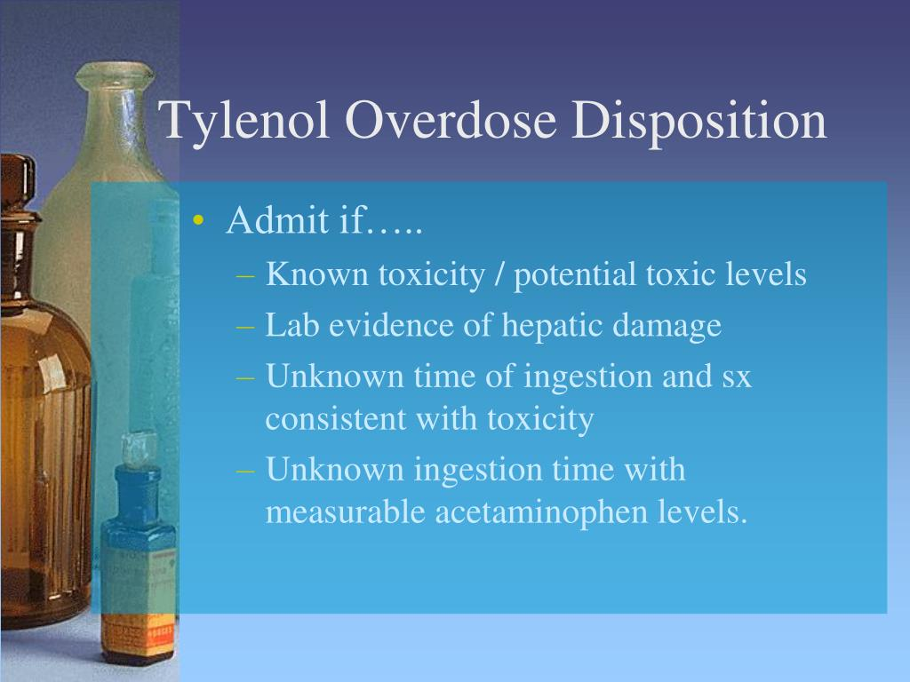 Tylenol Overdose Disposition