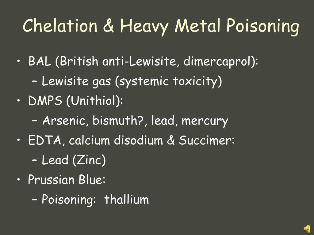 Chelation & Heavy Metal Poisoning