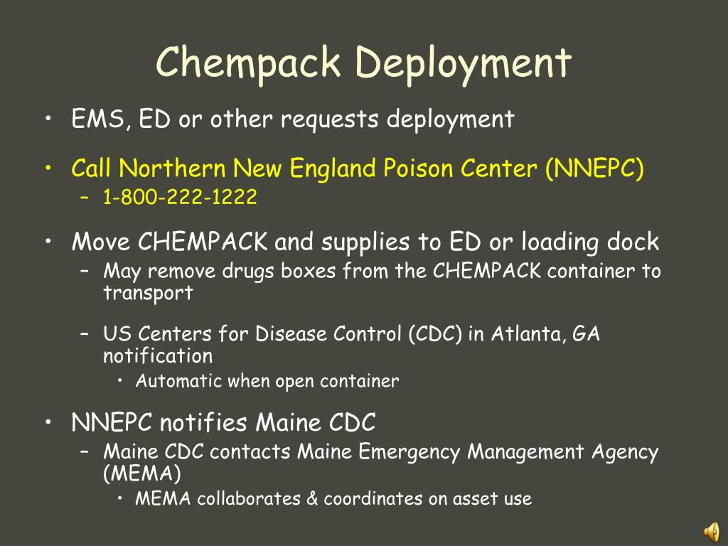 Chempack Deployment