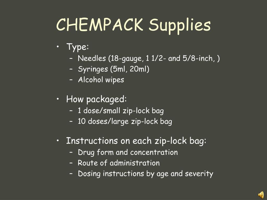 CHEMPACK Supplies