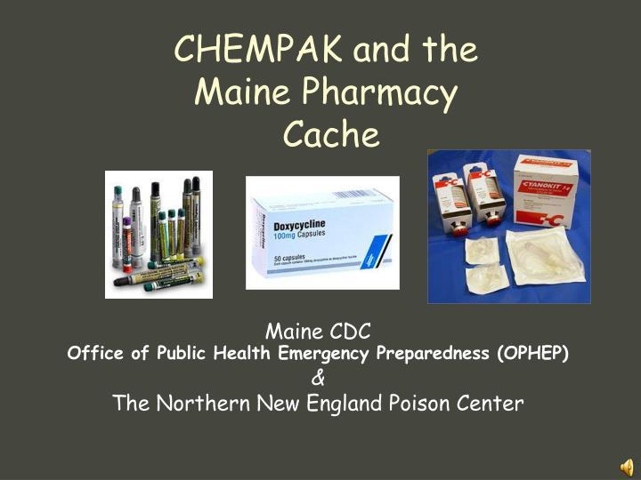 chempak and the maine pharmacy cache n.