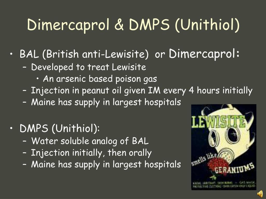Dimercaprol & DMPS (Unithiol)