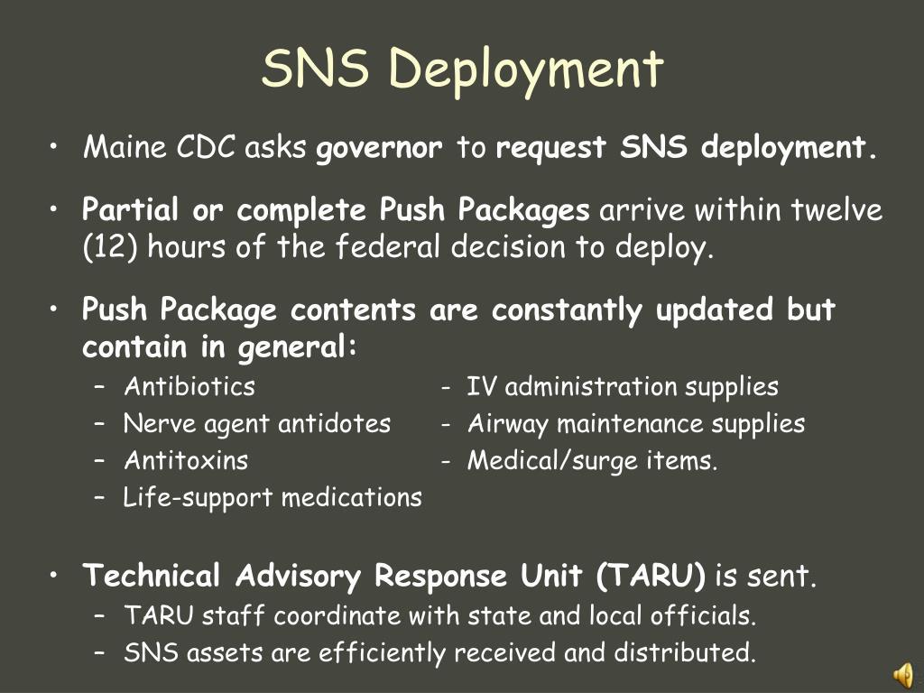 SNS Deployment