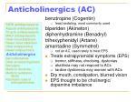 anticholinergics ac