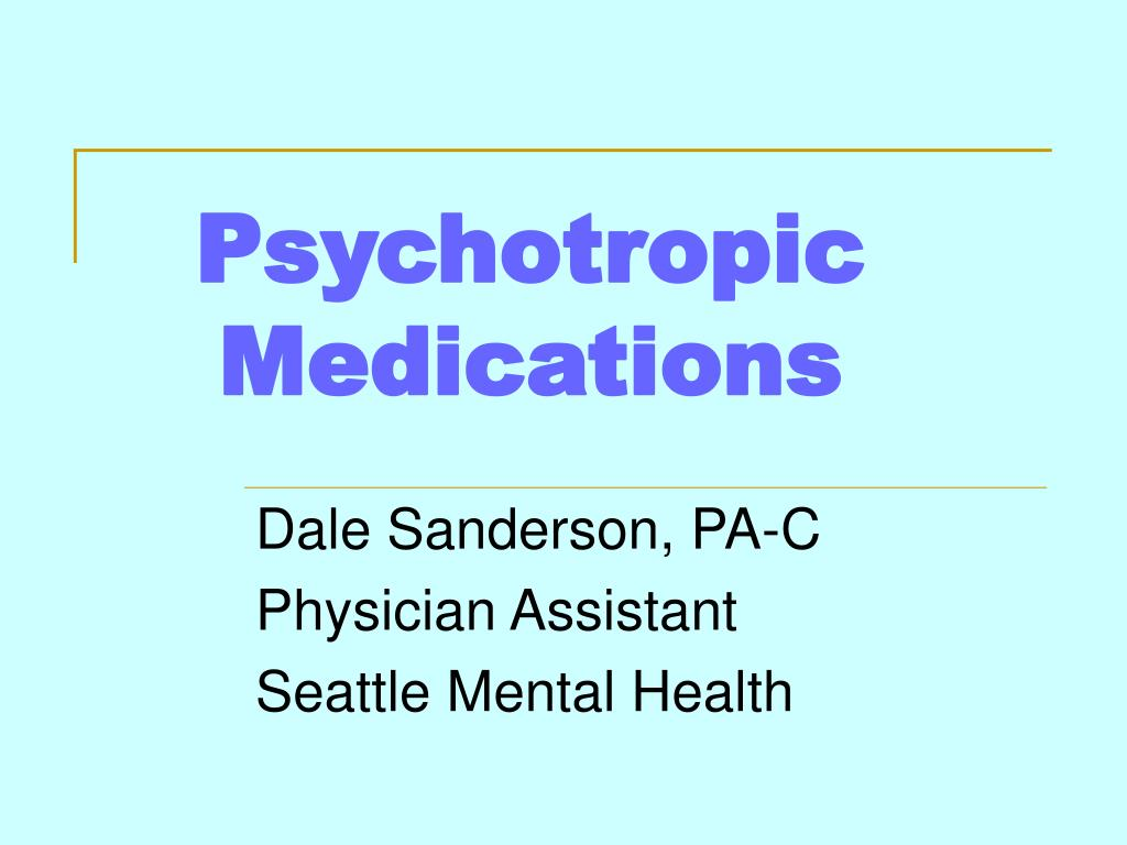 psychotropic medications l.