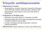 tricyclic antidepressants21