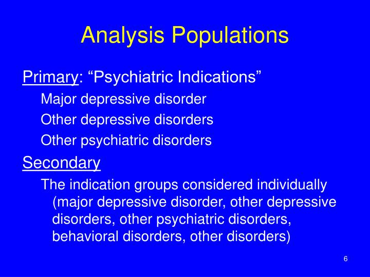 Analysis Populations