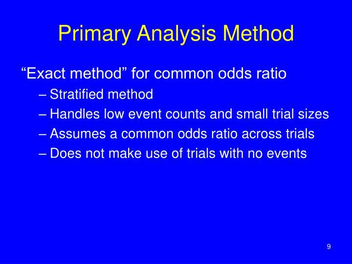 Primary Analysis Method