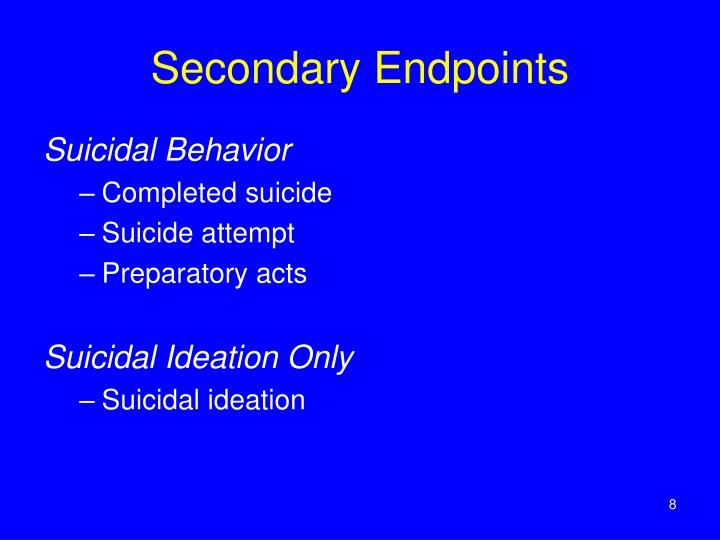 Secondary Endpoints