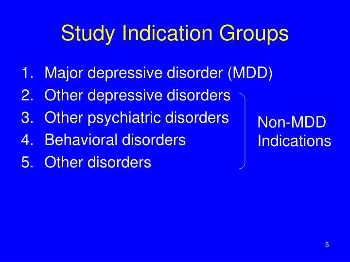 Study Indication Groups