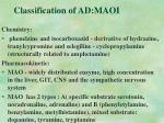 classification of ad maoi
