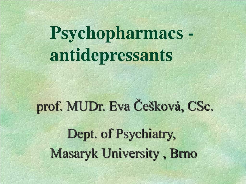psychopharmacs antidepressants l.
