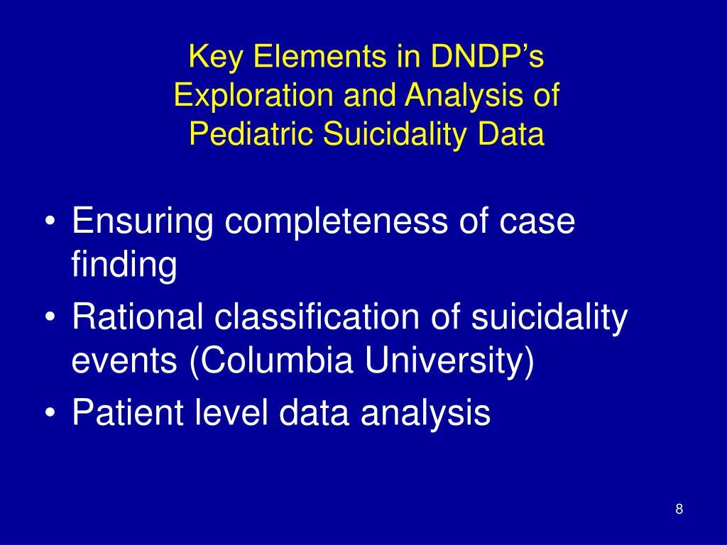 Key Elements in DNDP's