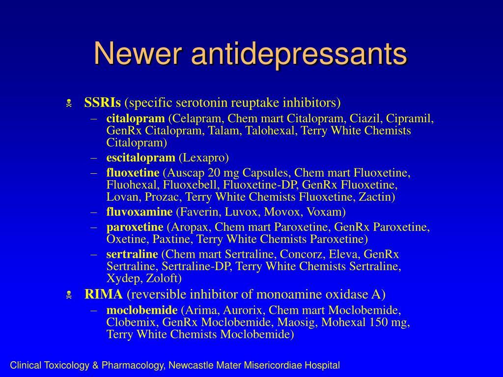 Newer antidepressants