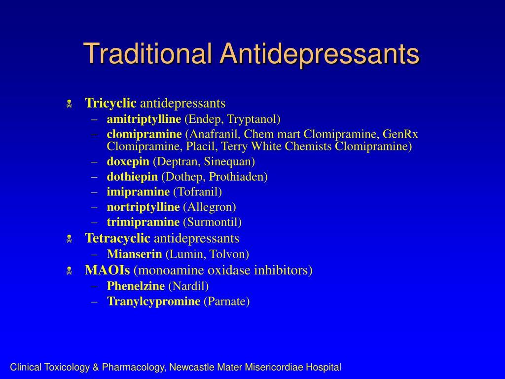 Traditional Antidepressants
