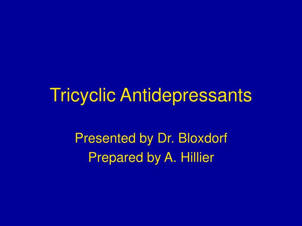 tricyclic antidepressants l.
