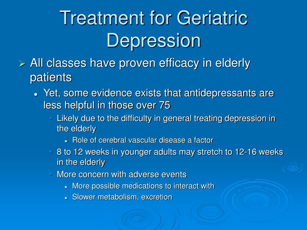 treatment for geriatric depression l.