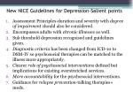 new nice guidelines for depression salient points