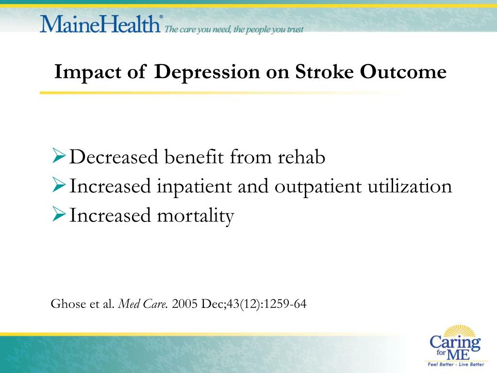 Impact of Depression on Stroke Outcome