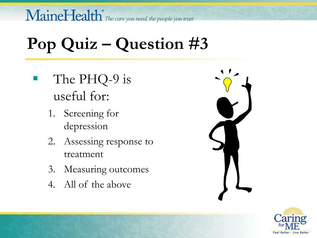 Pop Quiz – Question #3