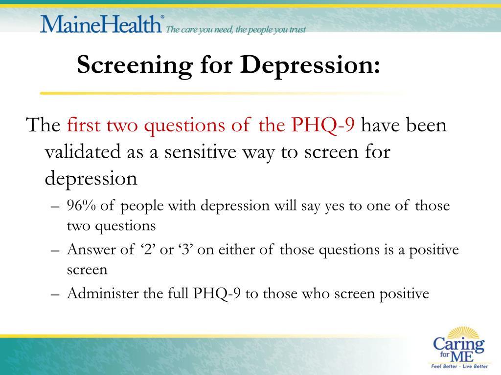 Screening for Depression: