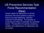 us preventive services task force recommendation new