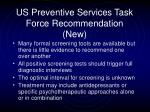 us preventive services task force recommendation new30