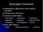 bupropion overview