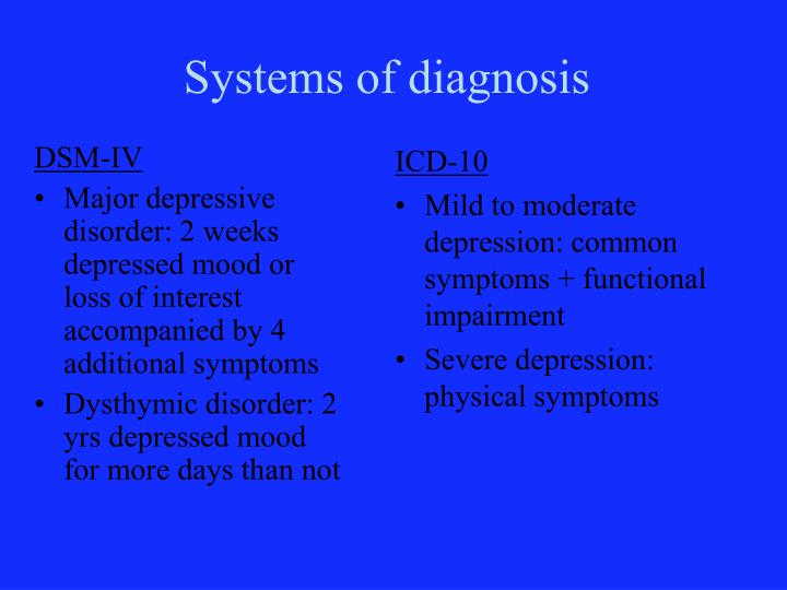 Systems of diagnosis