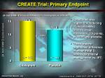 create trial primary endpoint