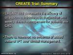 create trial summary